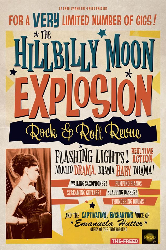 Hillbilly Moon Explosion 2015 tour poster - R'n'R Revue
